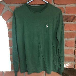 Polo Ralph Lauren Long Sleeve Tee Green Sz Small